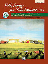Folk Songs for Solo Singers, Vol. 1 00-16634   upc 038081147338