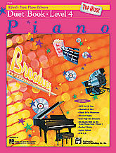 Alfred's Basic Piano Course: Top Hits! Duet Book 4 00-17168   upc 038081176796