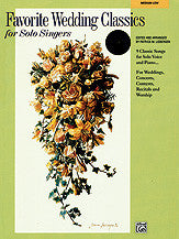 Favorite Wedding Classics for Solo Singers 00-19903   upc 038081188065