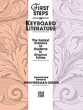 First Steps in Keyboard Literature 00-2385   upc 038081022536