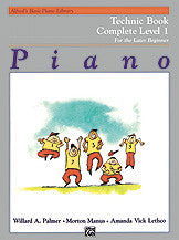 Alfred's Basic Piano Course: Technic Book Complete 1 (1A/1B) 00-2459   upc 038081012131