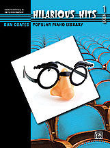 Dan Coates Popular Piano Library: Hilarious Hits, Book 1 00-30382   upc 038081330587