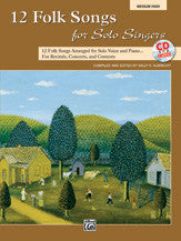12 Folk Songs for Solo Singers 00-31046   upc 038081338187