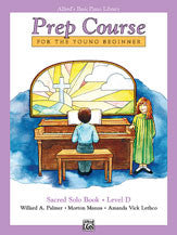 Alfred's Basic Piano Prep Course: Sacred Solo Book D 00-6197   upc 038081009414