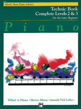 Alfred's Basic Piano Course: Technic Book Complete 2 & 3 00-6241   upc 038081018959