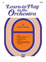 Learn to Play in the Orchestra, Book 1 00-767   upc 038081021928