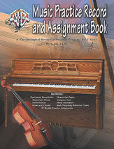 Music Practice Record and Assignment Book 00-ELM01023A   upc 654979075790