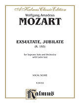 Exsultate Jubilate, K. 165 (Motet for Soprano) 00-K06332   upc 029156018776