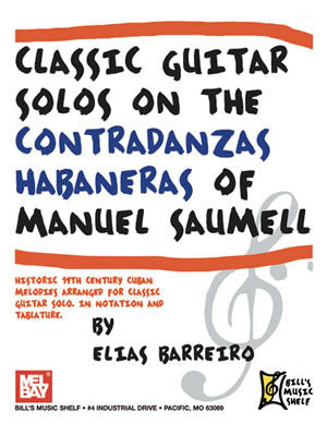 Classic Guitar Solos On The Contradanzas Habaneras 20275   upc 796279095433