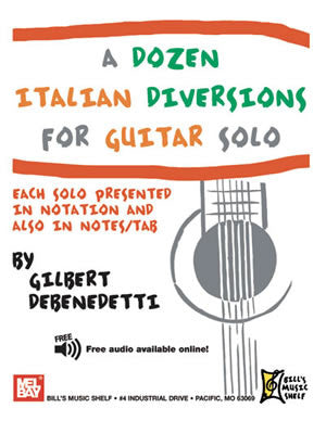 A Dozen Italian Diversions for Guitar Solo 20847   upc 796279110754