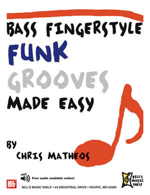 Bass Fingerstyle Funk Grooves Made Easy 21443   upc 796279102810