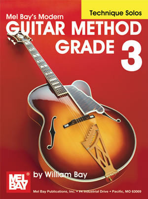 Modern Guitar Method Grade 3, Technique Solos 21791   upc 796279106900