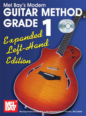 Modern Guitar Method Grade 1, Expanded Left-Hand Edition 93200ELBCD   upc 796279106269