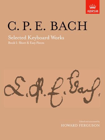 Selected Keyboard Works, Book I: Short & Easy Pieces  9781854722287   upc 9781854722287