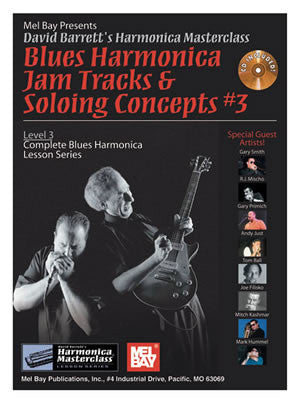 Blues Harmonica Jam Tracks & Soloing Concepts #3 99115BCD   upc