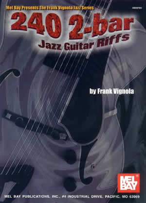 240 2-Bar Jazz Guitar Riffs 99769   upc 796279037303