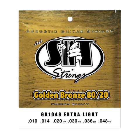 GB1048 EXTRA LIGHT GOLDEN BRONZE 80/20 ACOUSTIC      SIT STRING