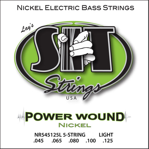 NR545125L 5-STRING LIGHT POWER WOUND NICKEL BASS      SIT STRING