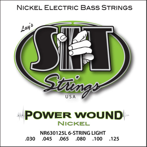 NR630125L 6-STRING LIGHT POWER WOUND NICKEL BASS      SIT STRING