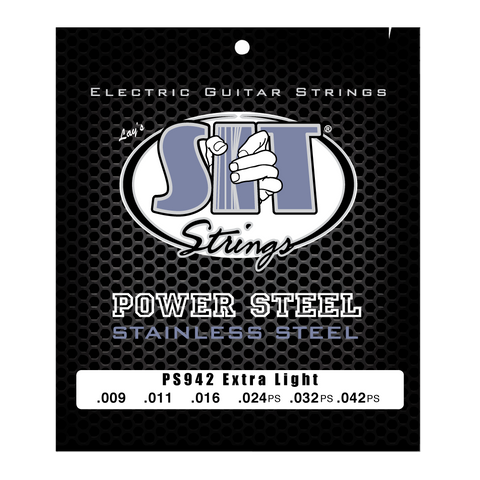 PS942 EXTRA LIGHT POWER STEEL STAINLESS ELECTRIC      SIT STRING