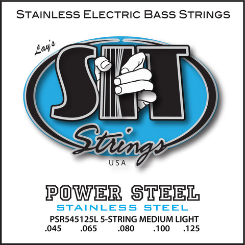 PSR550130L 5-STRING MEDIUM POWER STEEL STAINLESS BASS      SIT STRING
