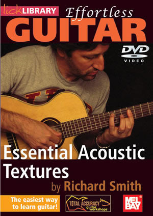 Effortless Guitar:  Essential Acoustic Textures   DVD RDR0136   upc 5060088821374