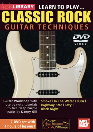 Classic Rock Guitar Techniques (Deep Purple)  2- Set DVD RDR0292   upc