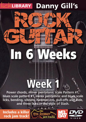 Danny Gill's Rock Guitar in 6 Weeks: Week 1  DVD RDR0328   upc