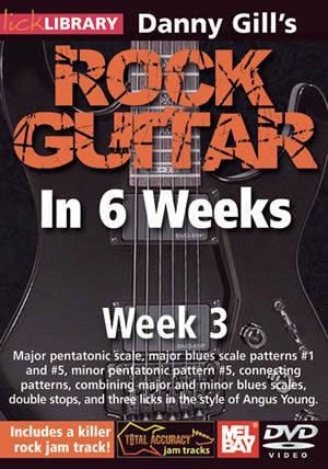 Danny Gill's Rock Guitar in 6 Weeks: Week 3  DVD RDR0330   upc