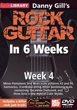 Danny Gill's Rock Guitar in 6 Weeks: Week 4  DVD RDR0331   upc