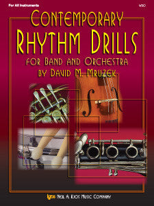 contemporary rhythm drills for band and orchestra KJOS w50   upc