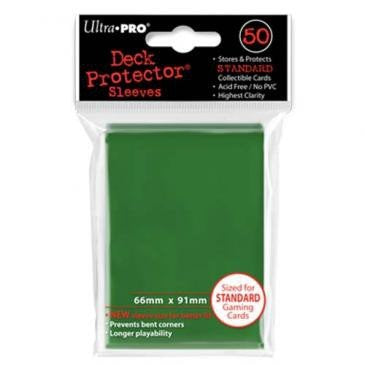 50 ultra pro deck protector green 66 x 91