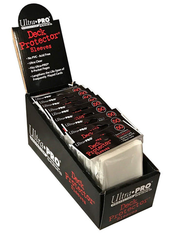50 ultra pro deck protector clear 66 x 91