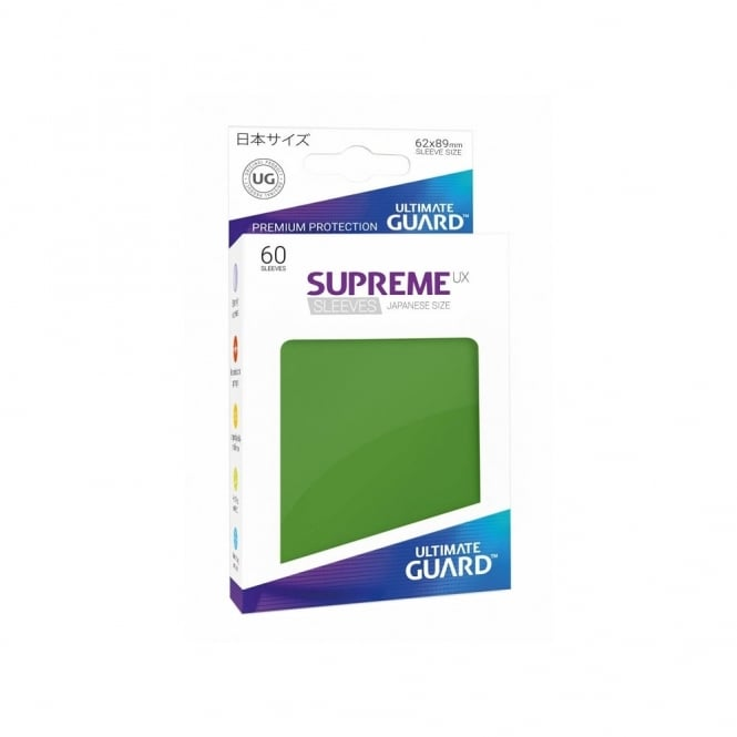 Ultimate Guard Supreme UX Sleeves Japanese Size green (60)