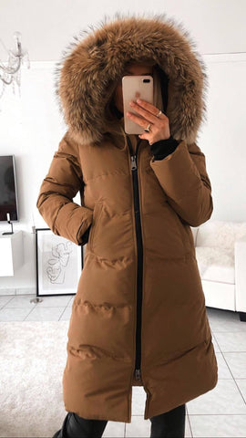 CANADA PARKA IN CARAMEL REAL FUR