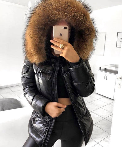 "DOWN JACKET REAL FUR ""KENDALL"""