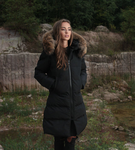 CANADA PARKA IN BLACK REAL FUR
