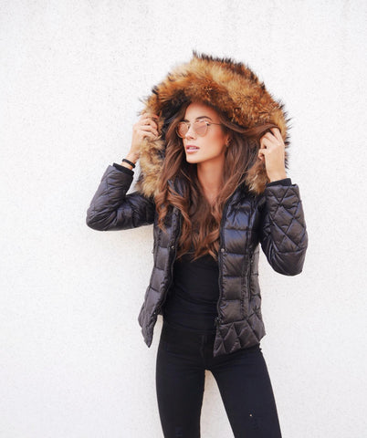 "DOWN JACKET REAL FUR ""ABBY"""