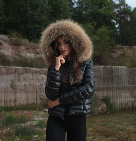 "DOWN JACKET REAL FUR ""ALENA"""