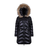 "LONG DOWN JACKET REAL FUR ""MORGAN"""
