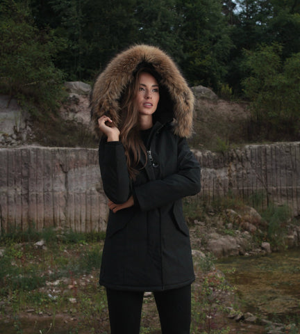 ARCTIC PARKA ART FUR IN BLACK