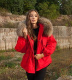 EU STOCK HIGH QUALITY OVER SIZE REAL FUR HOOD PARKAS