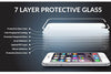 UNIT Tempered Glass til iPhone 8+ - hvid kant