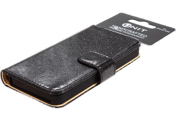 Glitter Flip Case for iPhone 6 - Black
