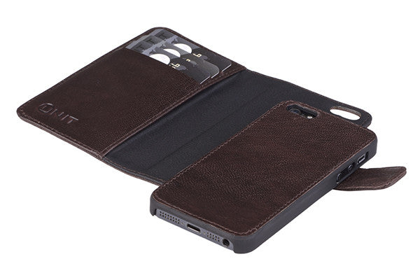 UNIT 2-i-1 cover Model LA til iPhone 5/5S/SE i brun