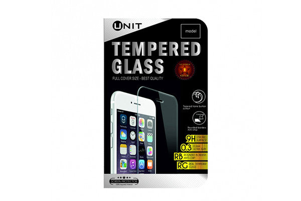 UNIT Tempered Glass til iPhone 7 - hvid kant