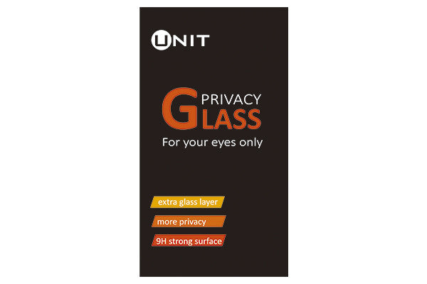 "UNIT ""Privacy"" Glas til iPhone 6+/6S+ - hvid kant"