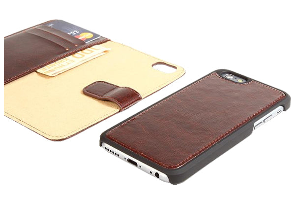 2-in-1 magnet cover for iPhone 6+ - Brown