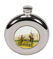 Bisley 5oz Round Shooting Motif Hip Flask