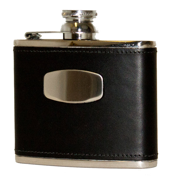 Bisley 4oz Black Hip Flask